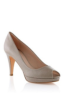 Peep toe in genuine calfskin leather 'Eldoral-K'