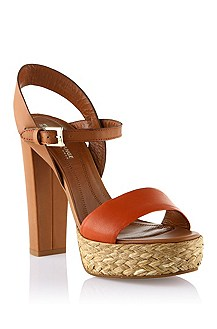 Lamb leather mix sandal 'Railee'