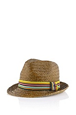 Straw hat with a curved brim 'Frib'