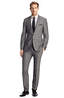 Suit made of textured new wool 'Ryan1/Win1'