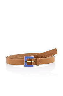 Leather belt with a pin buckle 'Virgy'