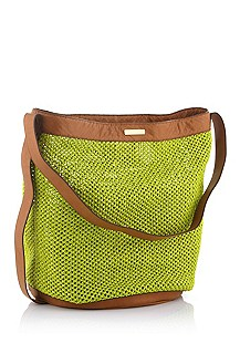 Shoulder bag in synthetic straw 'Rayen'