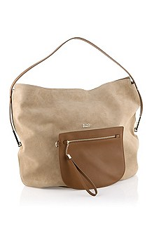 Suede hobo bag 'Cleophe'
