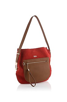 Suede hobo bag 'Camillie'