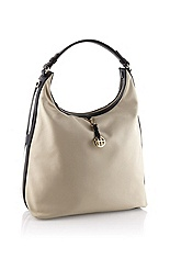 Hobo bag with a logo charm 'Hollye'