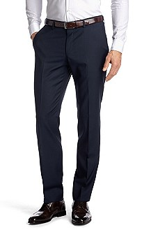 Suit trousers with pressed pleats 'Genesis1'