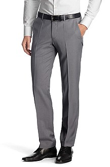 Suit trousers with pressed pleats 'Shark4'