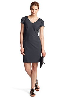 Short sleeve sheath dress 'Ahiroko-W'