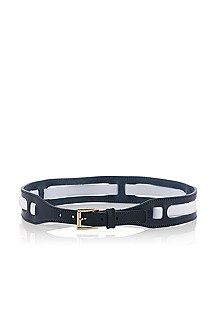 Smooth leather belt 'Hannie'