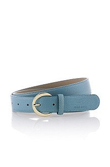 Printed calfskin leather belt 'Sofy-K'