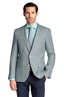Pure linen tailored business jacket 'Hutch2'