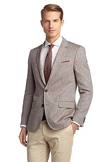 Pure linen tailored jacket 'Hutch2'