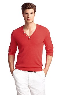 Pull-over Slim Fit à encolure en V, Frank