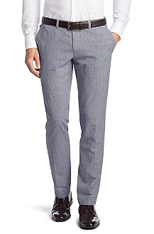 Pantalon business Regular Fit en lin, Wing1-W