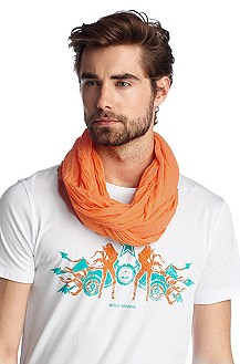 Scarf with an overlocked hem 'Nuot2'