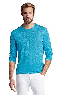 Regular-Fit Pullover ´Franz` mit Leinen