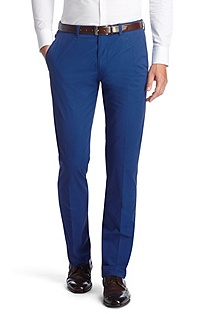 Pure cotton gabardine trousers 'Shadow7-W'