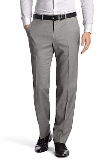 Suit trousers with a fine, woven check pattern