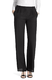 Silk trousers with waist pleats from HUGO