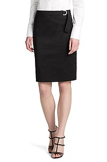 Cotton blend pencil skirt 'Rowine'