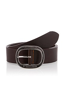 Belt with oval pin buckle 'Jeffrio'