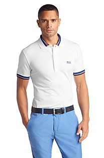 Polo shirt with a straight hem 'Paule'