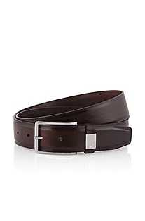 Brushed leather belt 'Suello'