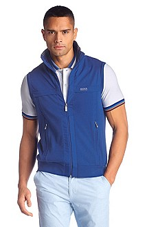 Regular fit vest in pure cotton 'Soron'