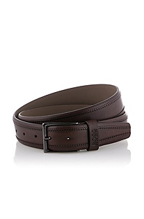 Brushed leather belt 'Cerolf'