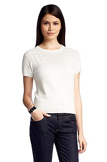 Knitted T-shirt + an open-work pattern 'F4709'