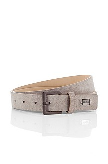 Leather belt with pin buckle from HUGO 'Gilliano