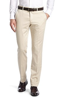 Suit trousers with contrasting piping 'Genevo'