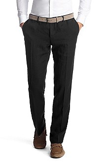 Slim-Fit Business-Hose ´Stanino3-W` aus Leinen