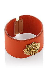 Leather bangle 'JW409'
