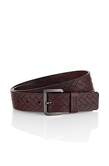 Cowhide leather belt with a pin buckle 'Georgio'