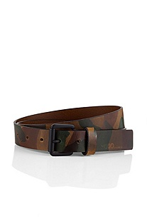Leather belt with pin buckle from HUGO 'Giltary'