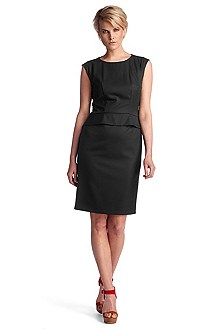 Sheath dress in blended new wool 'Dapeplina'