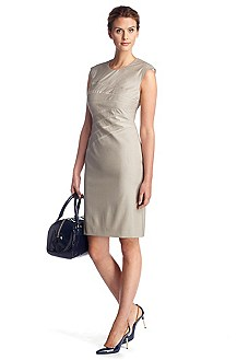 Sheath dress in blended new wool 'Dicaila'