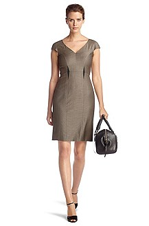 Sheath dress in blended new wool 'Dilova'