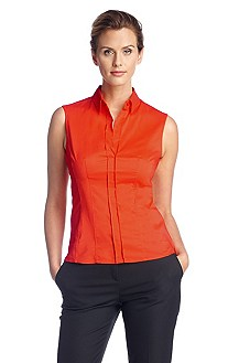 Sleeveless blouse in a fitted cut 'Bashiva'