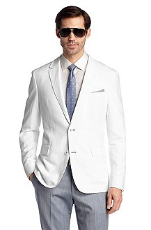 Tailored business jacket with linen 'Miles5'