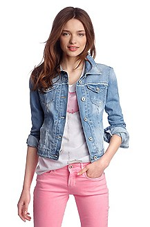 Pure cotton denim jacket 'Laeva'