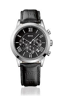 Men's chronograph with leather strap 'HB 2022'