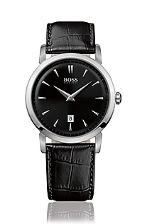 Men's watch with leather strap 'HB 1013'