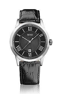 Men's timeless watch with roman numerals
