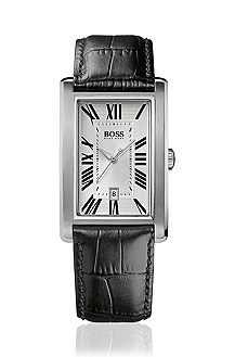 Men's watch with silver tone dial 'HB 1014'