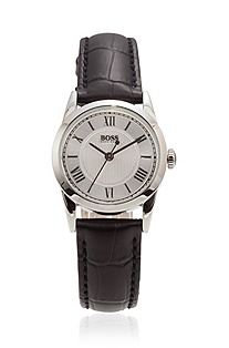 Women's watch with leather strap 'H4039'