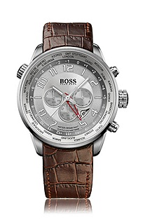 Men's chronograph with leather strap 'HB 2031'