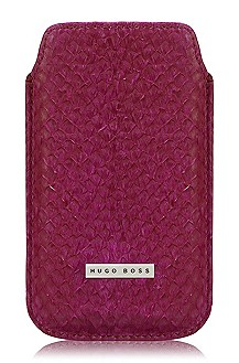 iPhone-hoesje ´Coral Purple` van zalmleer