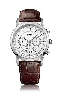 Men's chronograph with leather strap 'HB1013'
